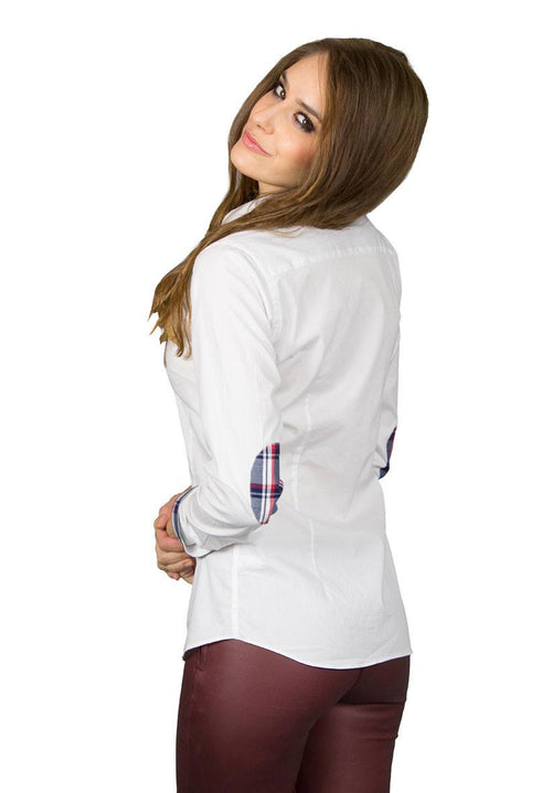 Toppa White Shirt Elbow Patch