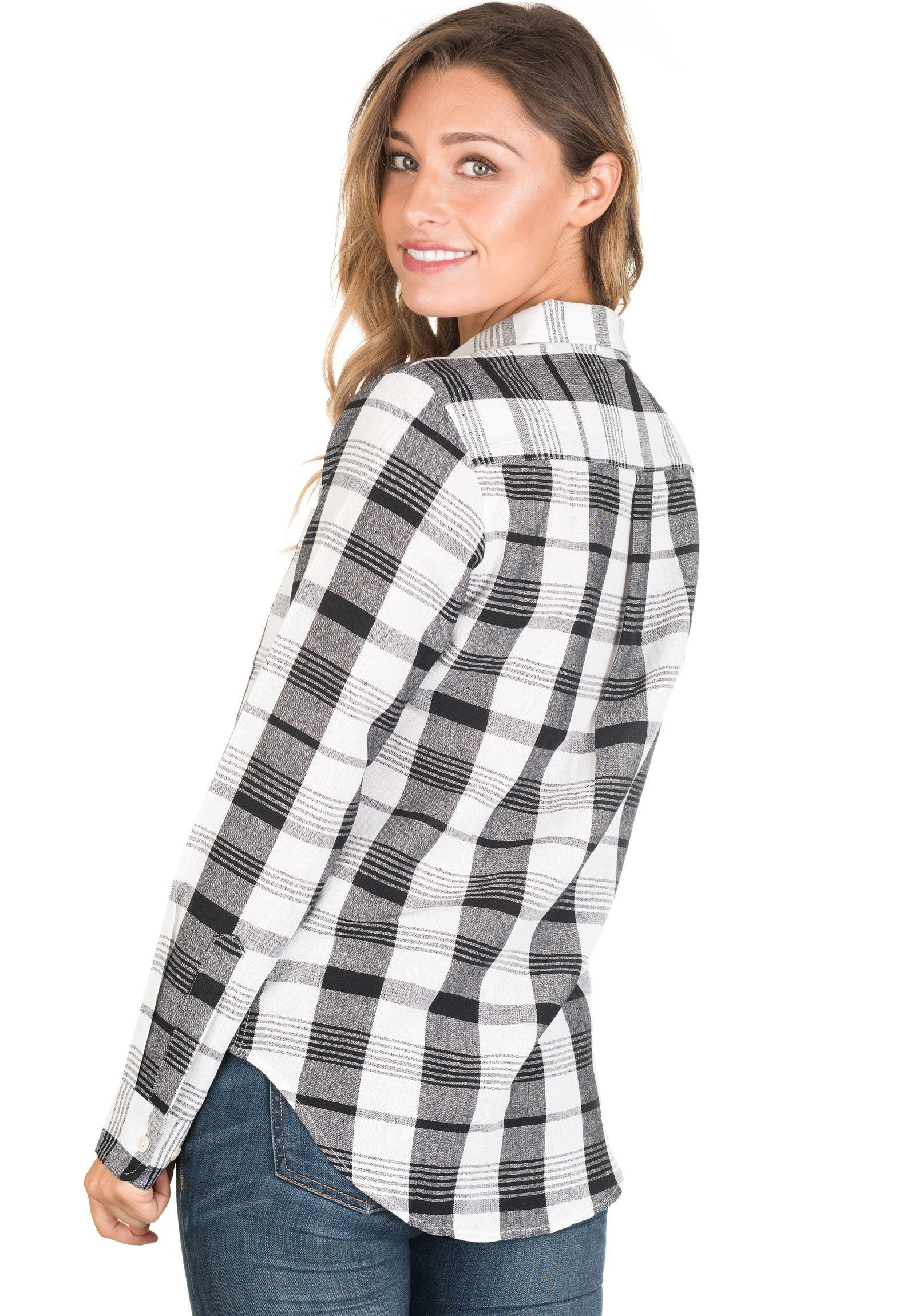 Plaid, Black & White linen check shirt