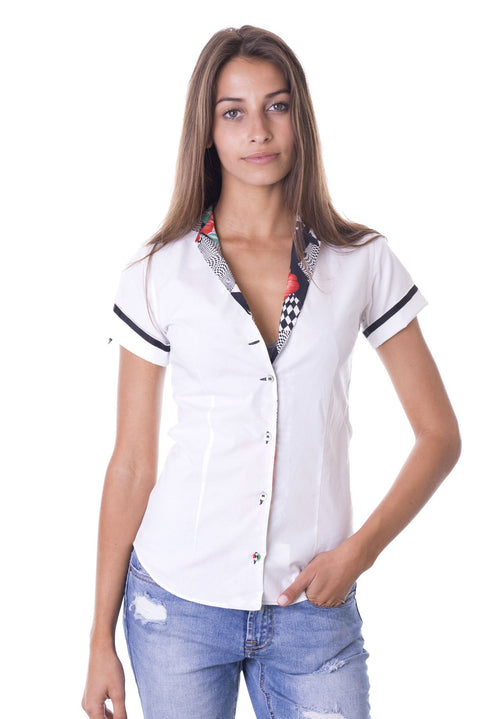 Carina Checks & Roses Black & White Shirt