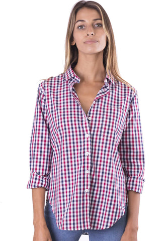 Febe White, Casual linen shirt with roll-up tabs