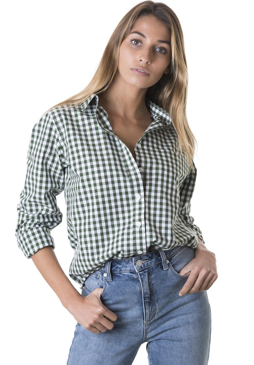 Gigi Pine, Gingham Cotton Shirt
