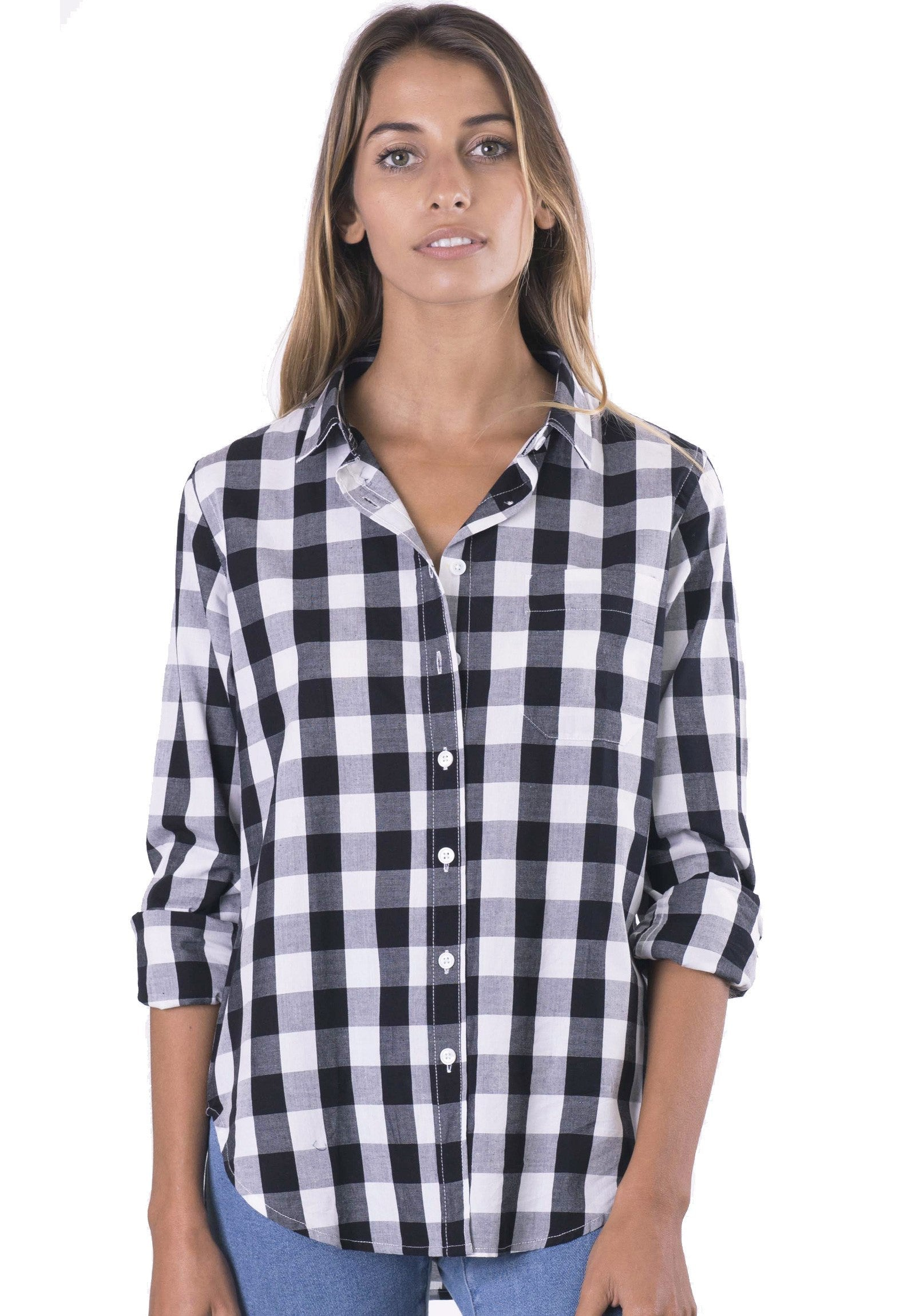 Gigi, Major Black Gingham Cotton Shirt