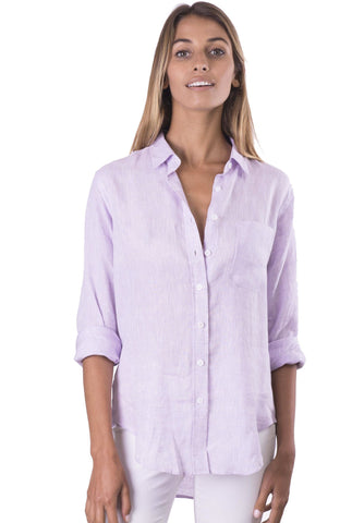 Rina Natural, Pin Striped Linen Shirt