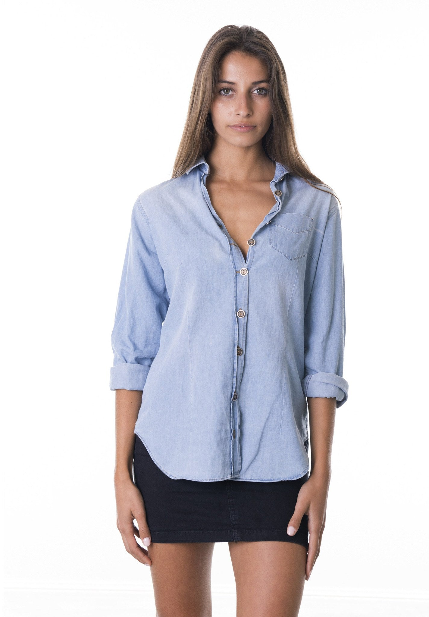 Jeana, Bleached Denim Shirt