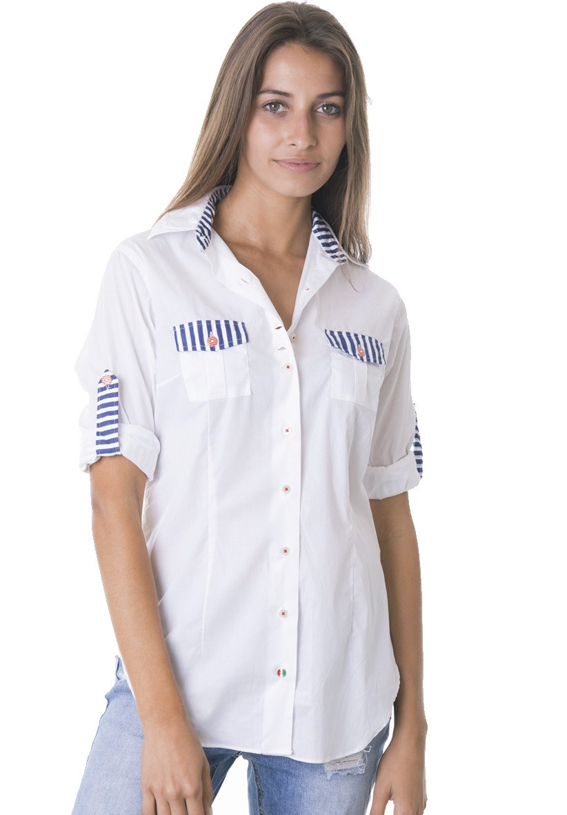 Marina Roll-Tab Relaxed Shirt