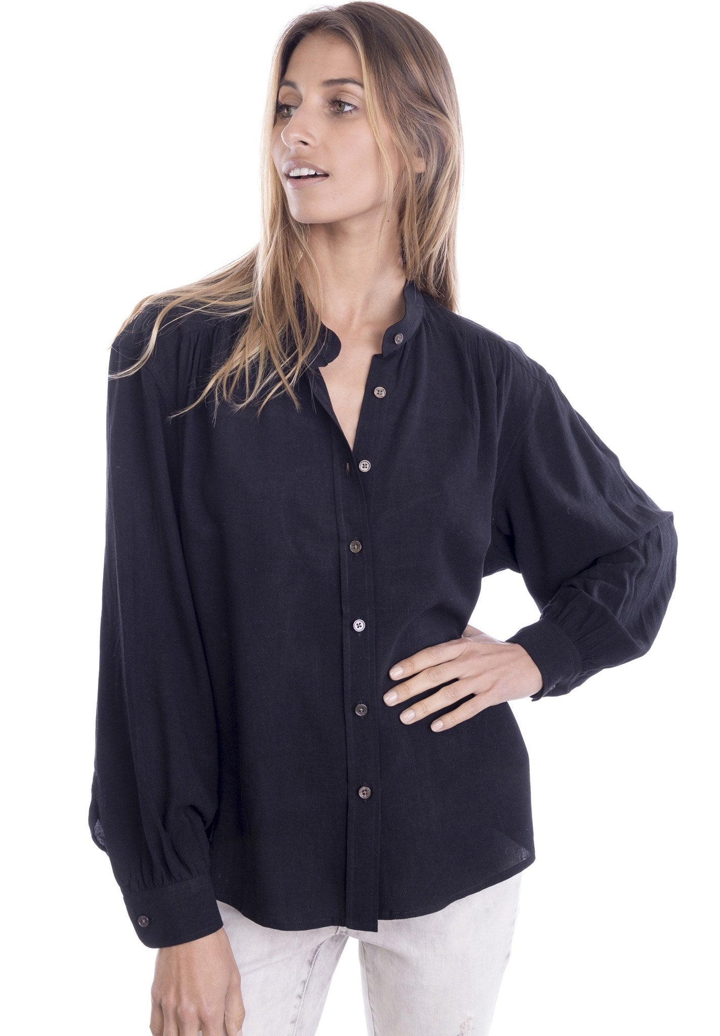 Poet Black Romantic Shirt