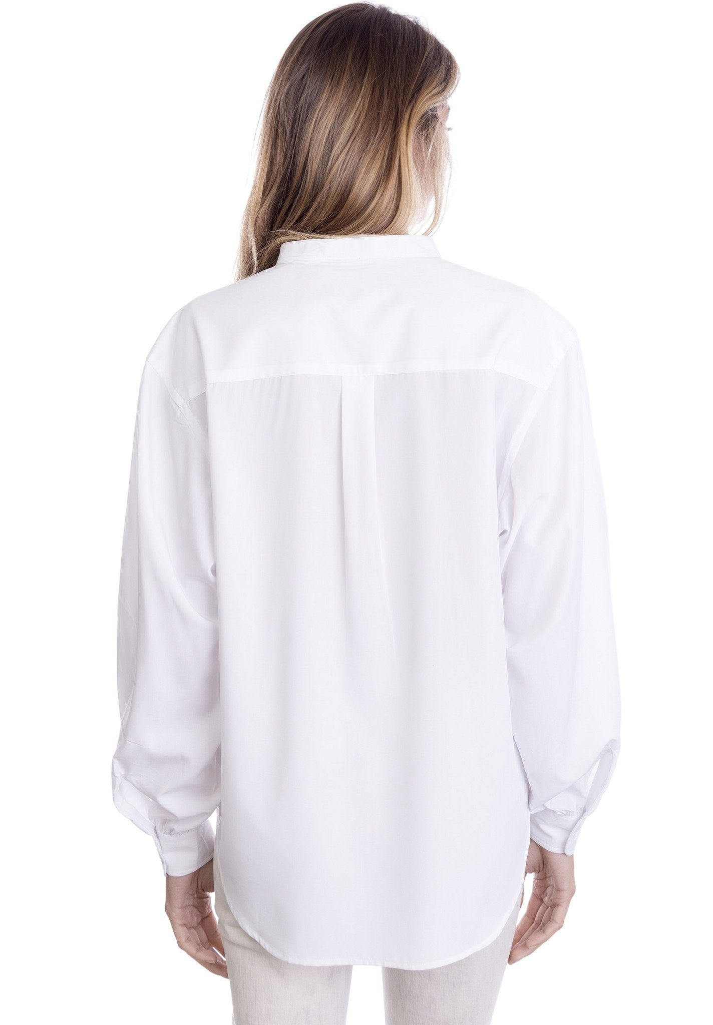 Poet White Romantic Shirt