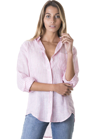 Gigi, Soft Pink Gingham Cotton Shirt