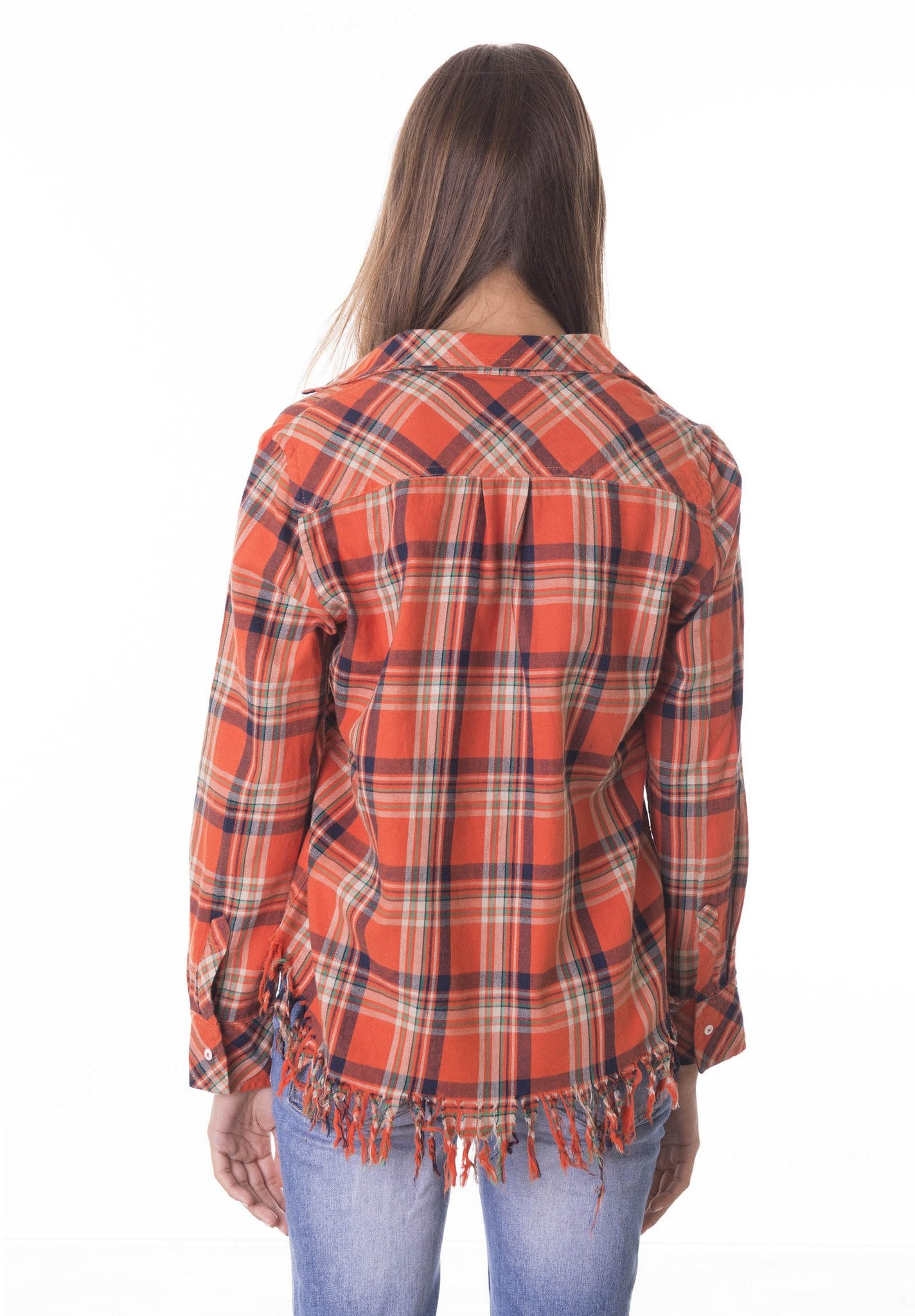 Rock, Distressed Trim Plaid Shirt
