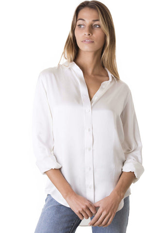 Satin Pale Pink, Pure Charmeuse Silk Shirt