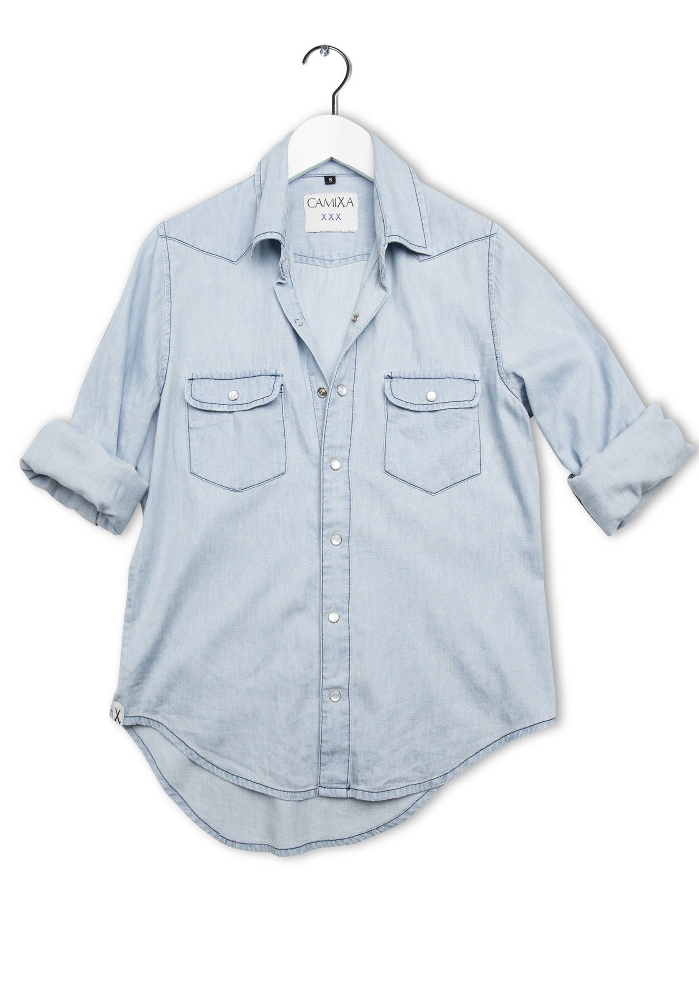 Sky Bleached Denim Shirt