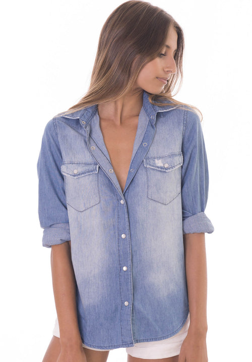 Wanderer indigo denim shirt
