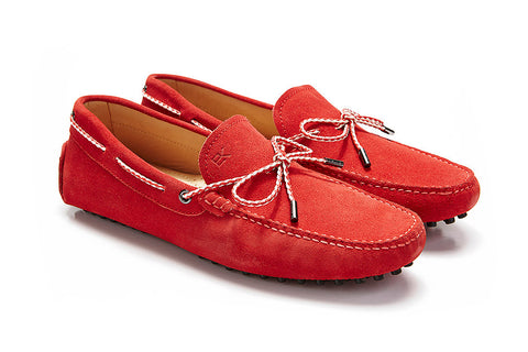St.Tropez - Vermillion Suede / Two Tone Rope