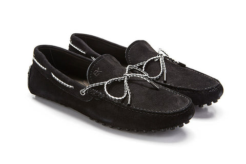 St.Tropez - Black Suede / Two Tone Rope