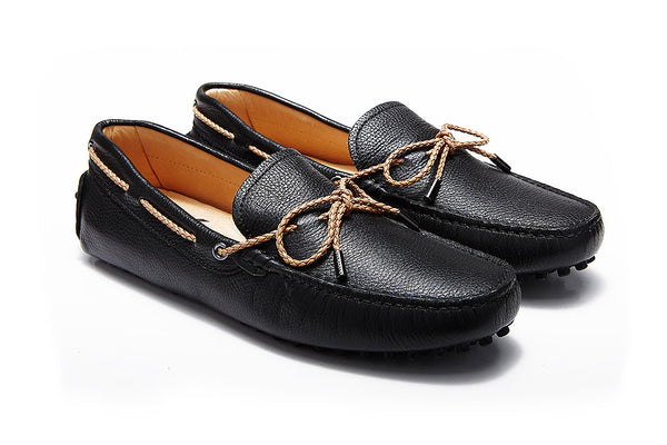 St.Tropez - Black Pebble Leather
