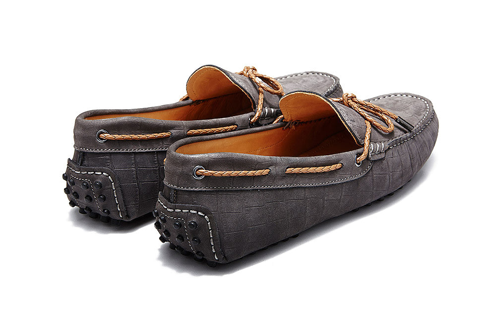 St.Tropez - Graphite Crocodile Embossed Leather *LIMITED EDITION*