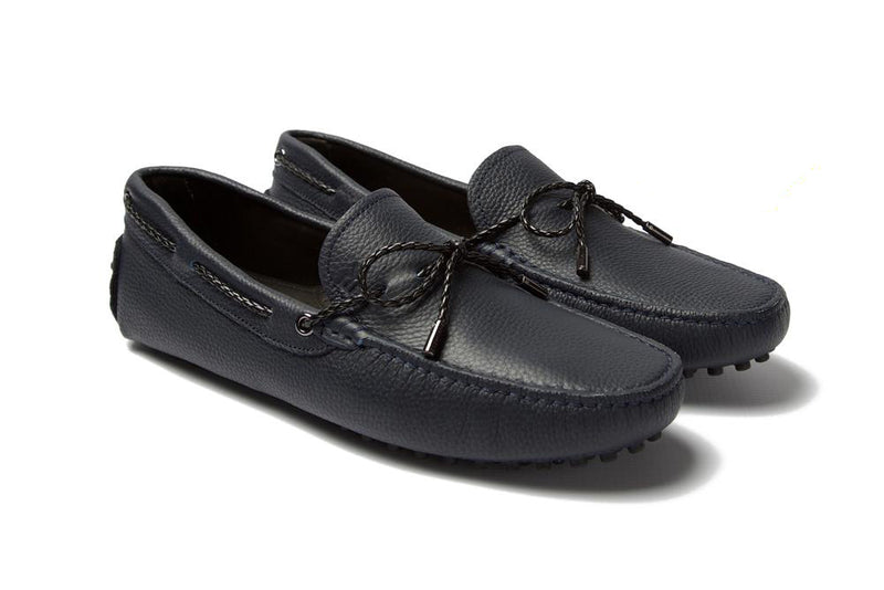 St.Tropez - Navy Pebble Leather