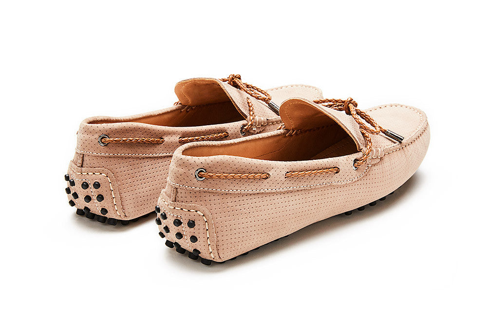 St.Tropez - Perforated Champagne Leather