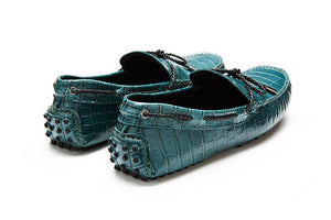 St.Tropez - Teal Crocodile Embossed Leather *LIMITED EDITION*