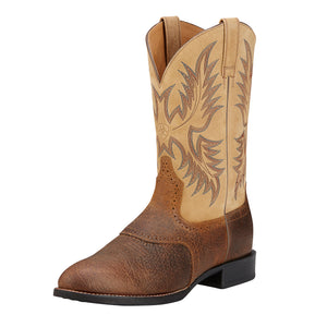 Botas Ariat Mod Mens Heritage Stockman Brown Beige