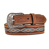 Cinto Ariat Mod A1018248 Color Beige Con Bordado