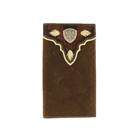 Cartera Ariat Rodeo Hombre cafe Con Concho