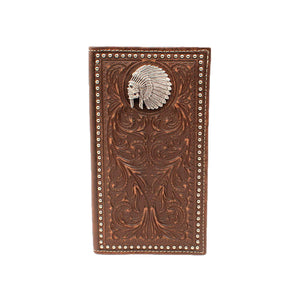 Cartera Ariat Rodeo Hombre Cafe Cincelada