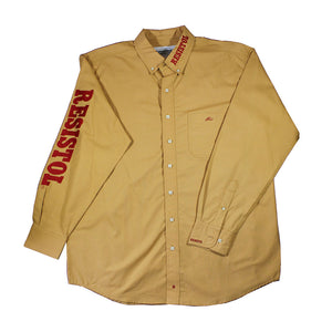 Camisa Resistol Ranch Marketing Khaki/Red