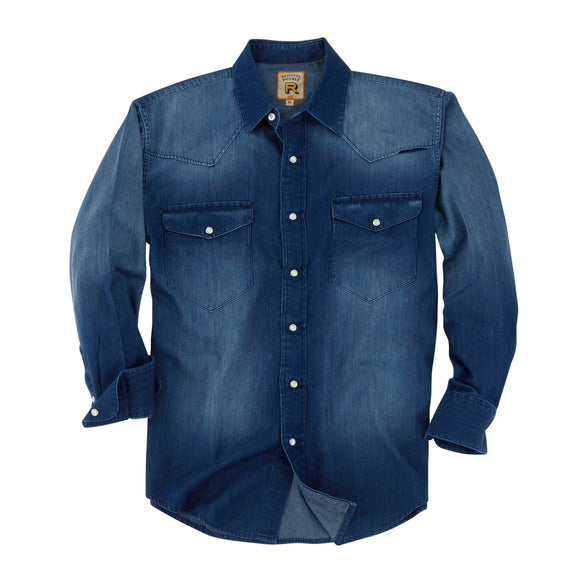Camisa Resistol Double RR Dark Denim
