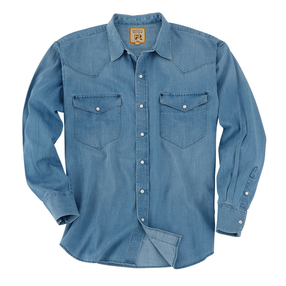 Camisa Resistol Double RR Light Denim