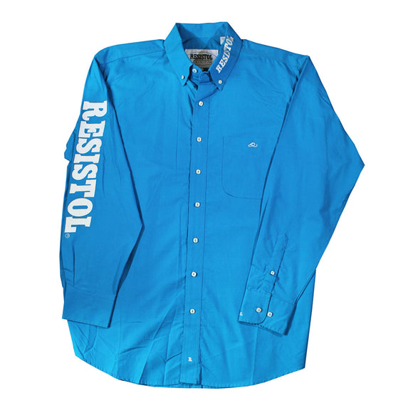 Camisa Resistol Ranch Marketing Turquoise/White