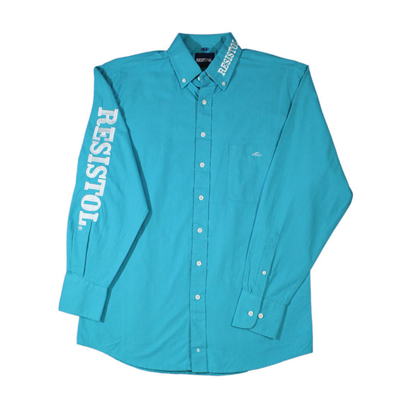 Camisa Resistol Marketing Turquoise/White