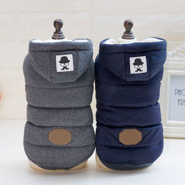 Hooded Padded Dog Coat