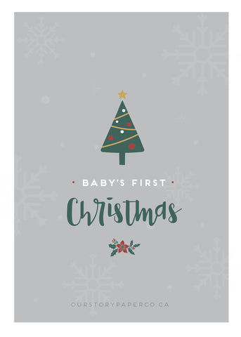 baby's first christmas printable preview