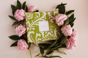 Forest Green Damask Keepsake Album by Our Story Paper Co.