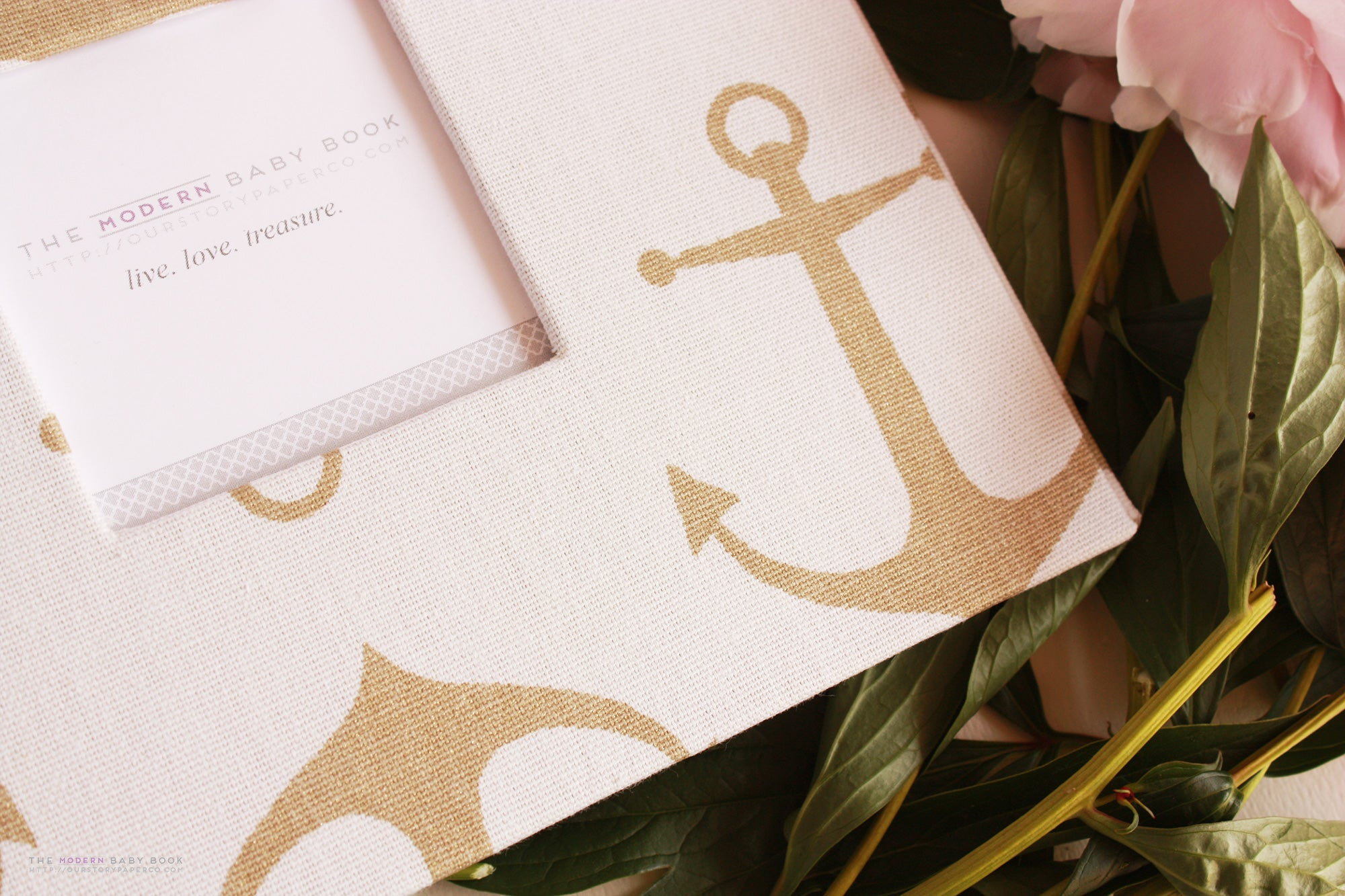 Gold Anchor Keepsake Album by Our Story Paper Co.