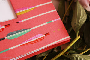 Coral Western Arrows Keepsake Album by Our Story Paper Co.