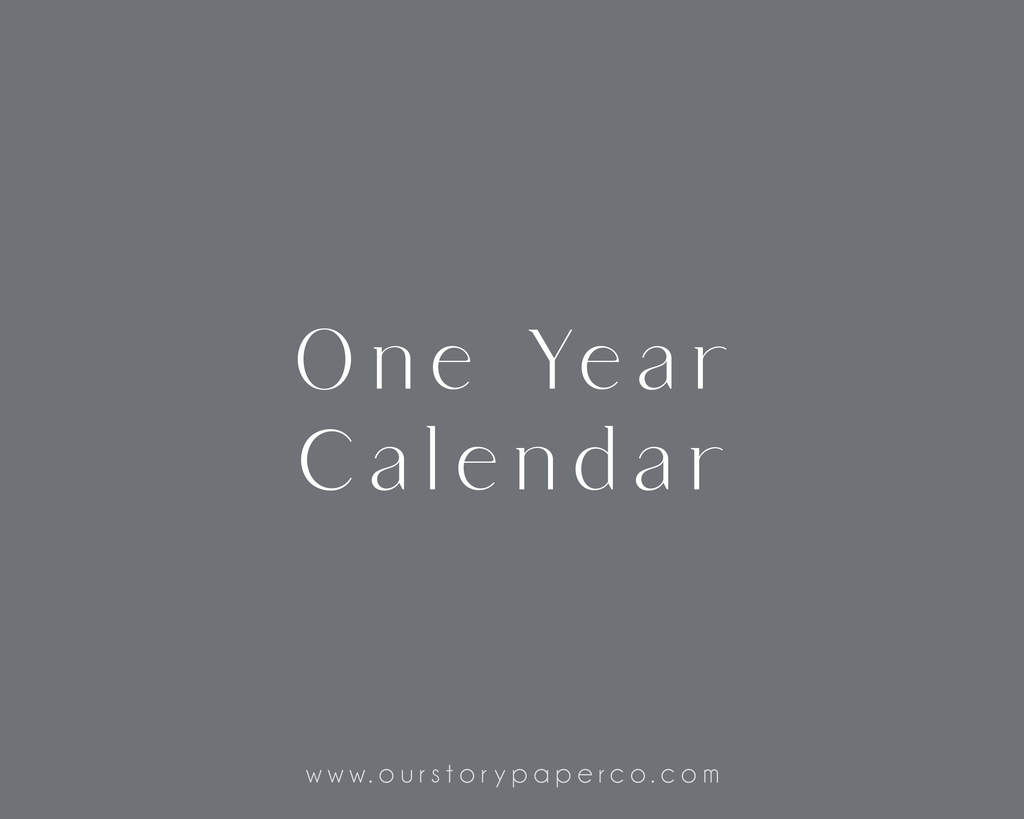 One Year Calendar Pack