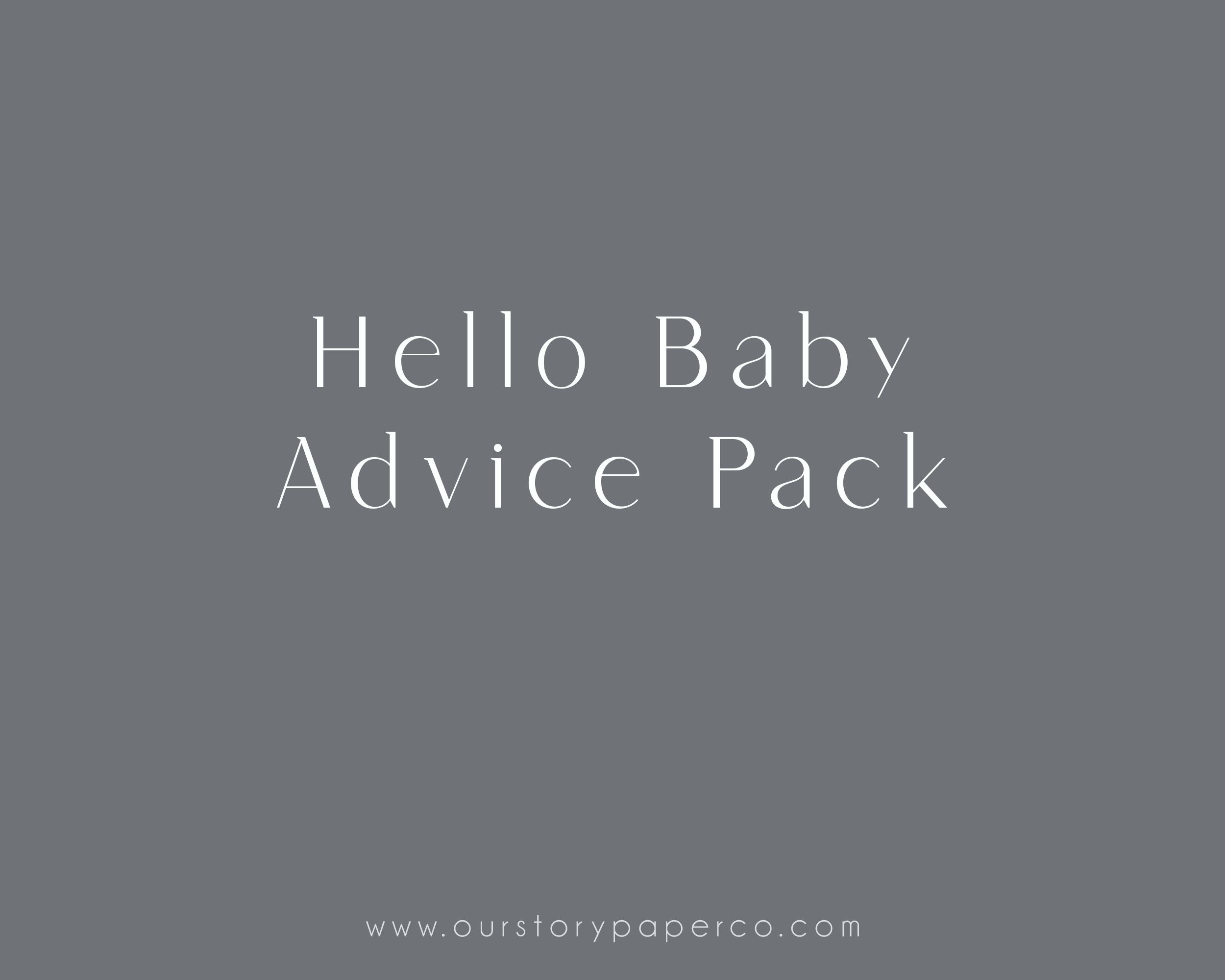 "Baby Shower | ""Hello Baby"" Advice Pack"