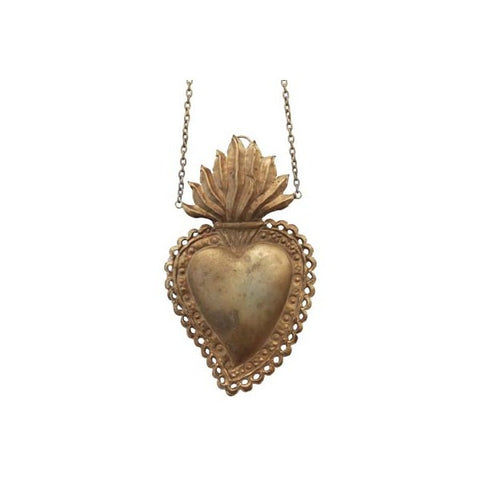 vintage gold hanging heart