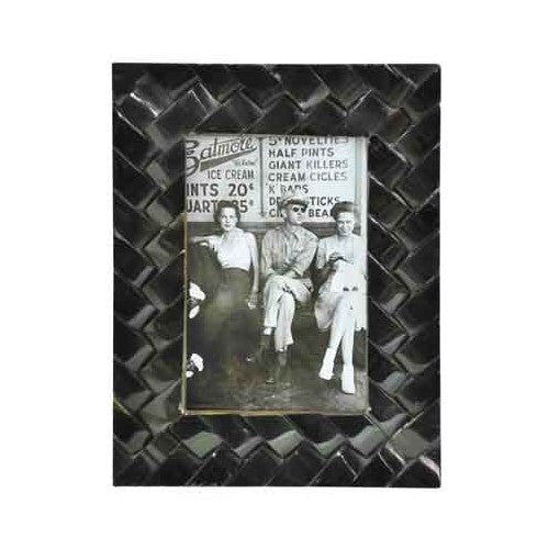 bone photo frames - black or white