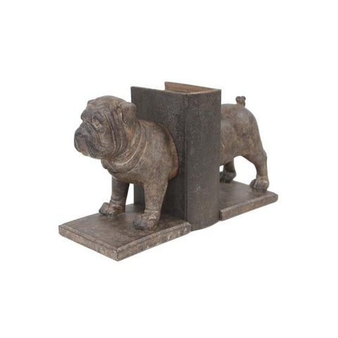 bull dog book ends