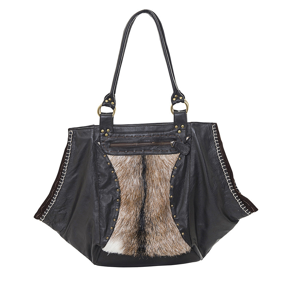 fur & leather bag