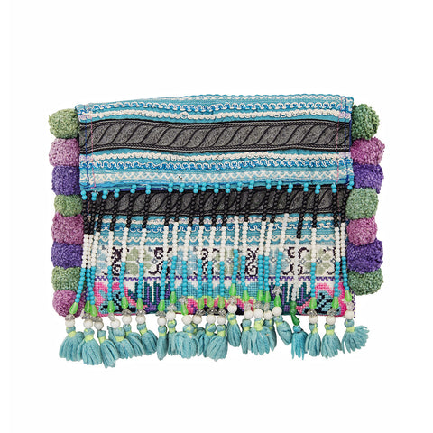 nomad beaded clutch