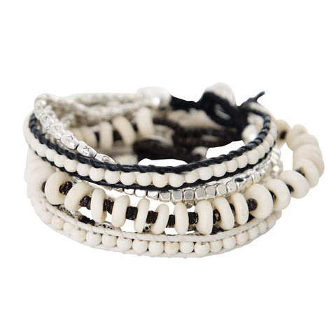 white & silver friendship bracelets