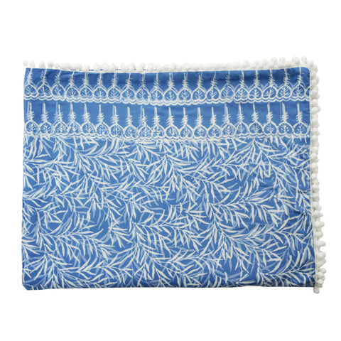 bamboo leaf beach towel