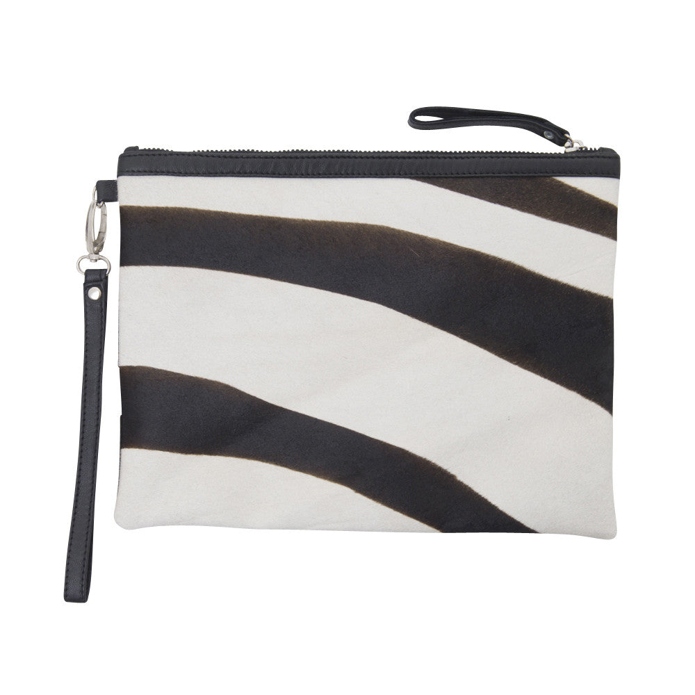 african luxe zebra iPad bag