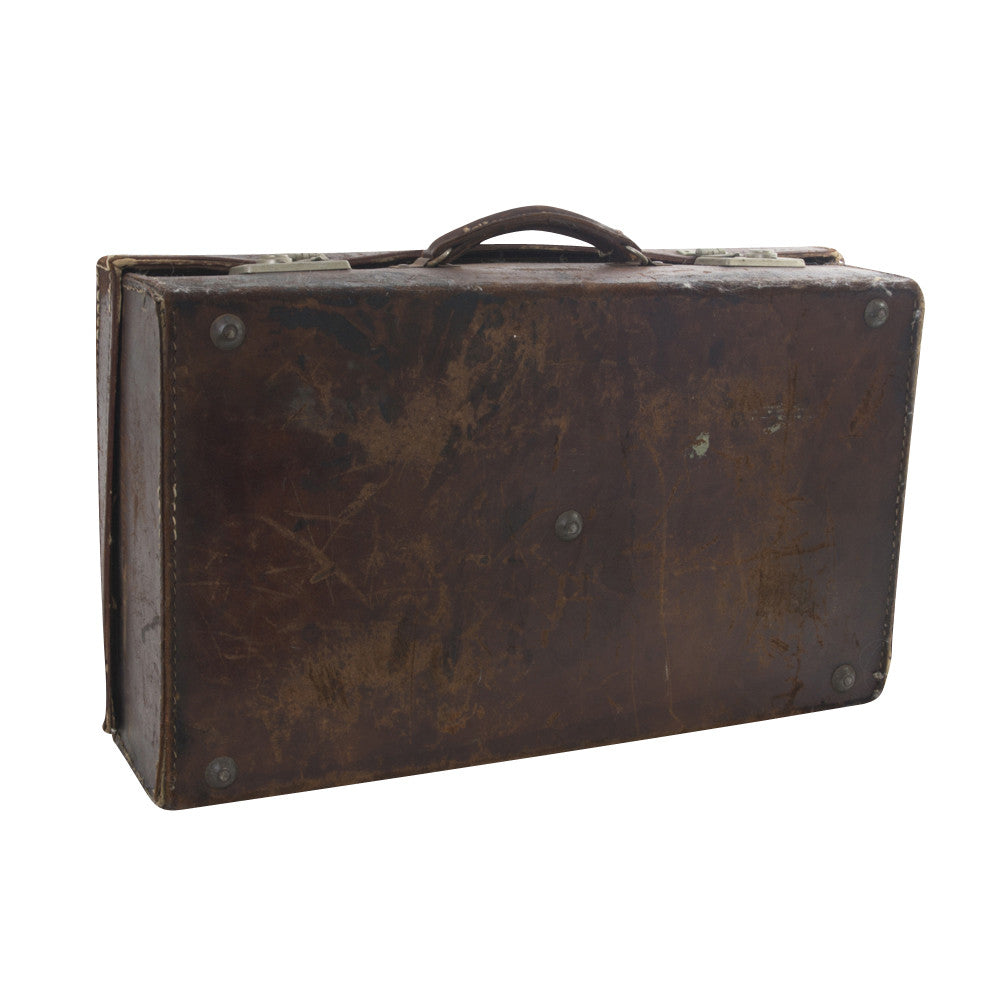 antique leather trunk small