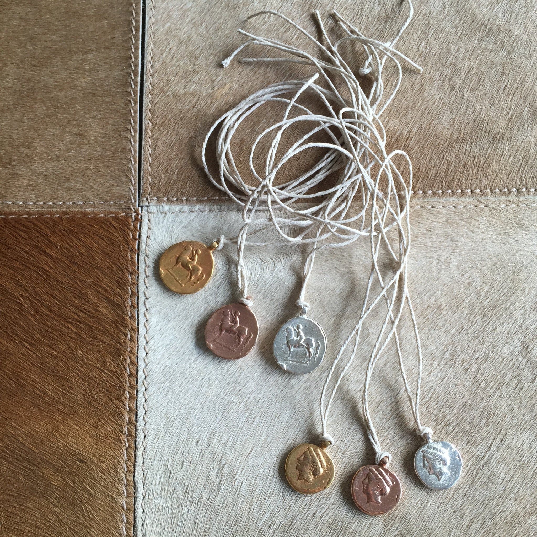 coin of tarras - his & hers necklace