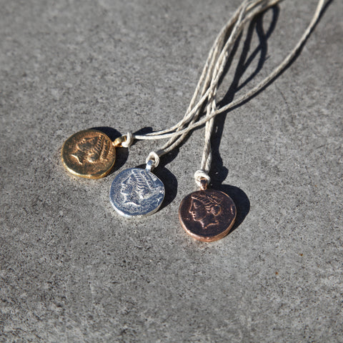 coin of tyche - his & hers necklace